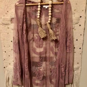 Full Length Lace Duster
